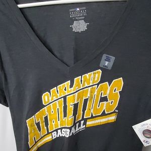 MLB Oakland athletics baseball v neck shirt